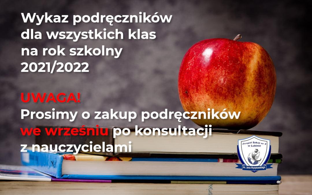 Zestaw podręczników na rok 2021/2022