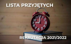 Listy przyjętych rocznik 2021
